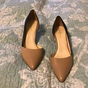 Cole Haan Two-tone D'orsay pumps beige and black